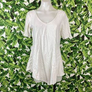 5 for $25 Cut Loose White V Neck Tunic Tee Shirt